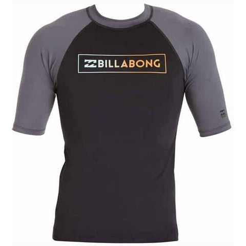 BILLABONG All Day Raglan Short Sleeve Rashguard Black MWLYEARS