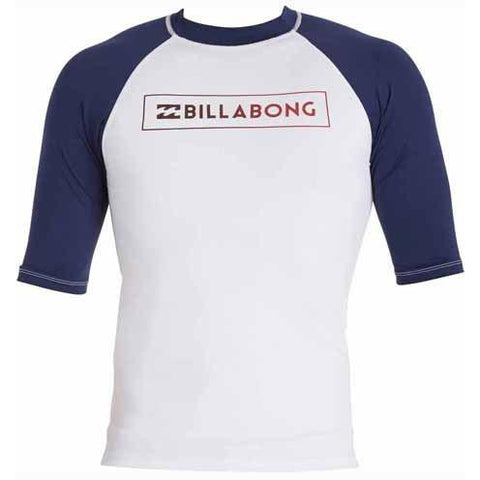BILLABONG All Day Raglan Short Sleeve Rashguard White MWLYEARS
