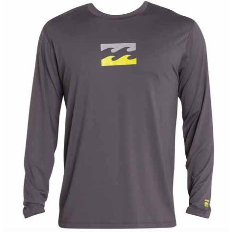 BILLABONG Chronicle Long Sleeve Surf Tee Charcoal MWLYECHL