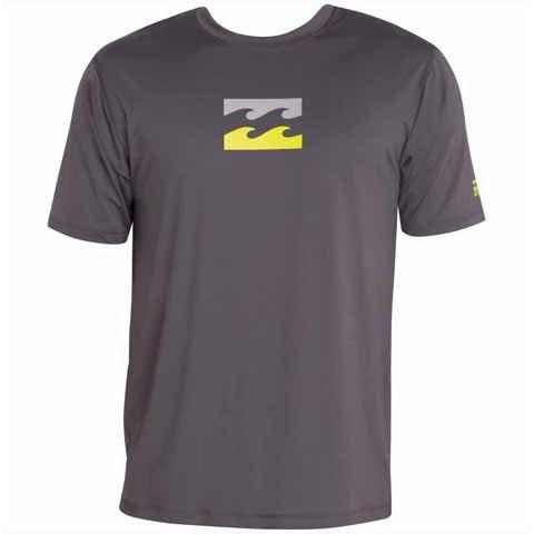BILLABONG Chronicle Short Sleeve Surf Tee Charcoal MWLYECHS