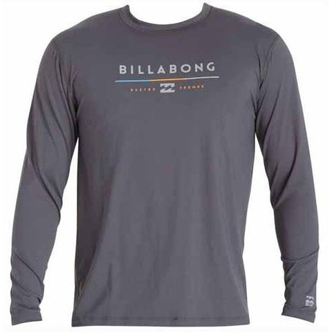 BILLABONG Tri Unity Long Sleeve Rashguard Charcoal MWLYETUL