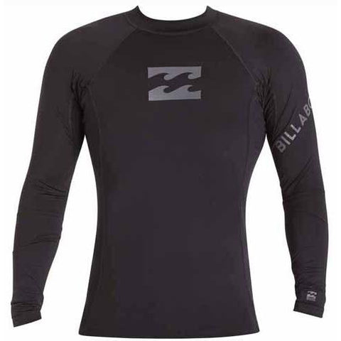 BILLABONG Team Wave Long Sleeve Rashguard Black MWLYETWL
