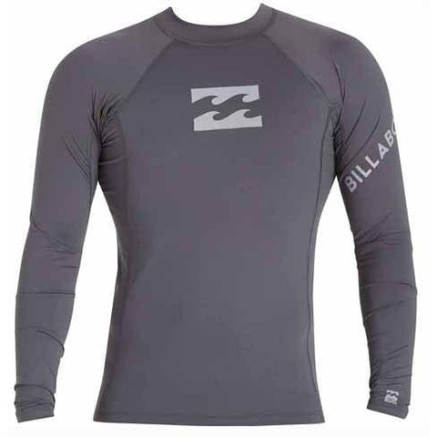 BILLABONG Team Wave Long Sleeve Rashguard Charcoal MWLYETWL