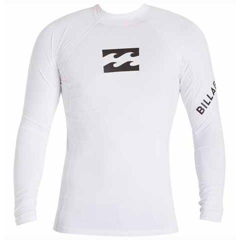 BILLABONG Team Wave Long Sleeve Rashguard White MWLYETWL