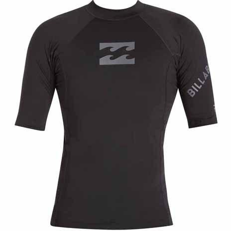 BILLABONG Team Wave Short Sleeve Rashguard Black MWLYETWS