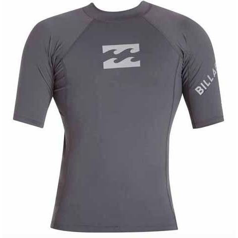 BILLABONG Team Wave Short Sleeve Rashguard Charcoal MWLYETWS