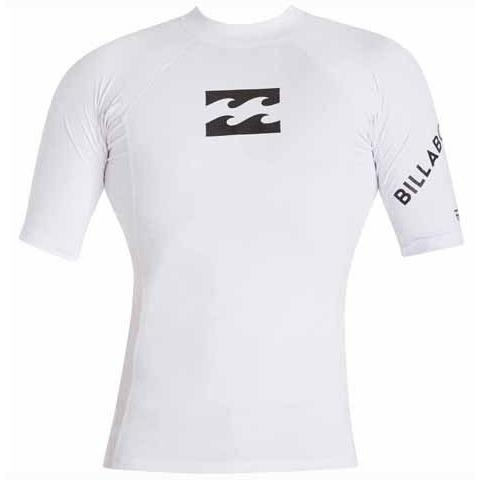 BILLABONG Team Wave Short Sleeve Rashguard White MWLYETWS