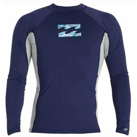 BILLABONG Iconic Long Sleeve Rashguard Navy MWLYEICL