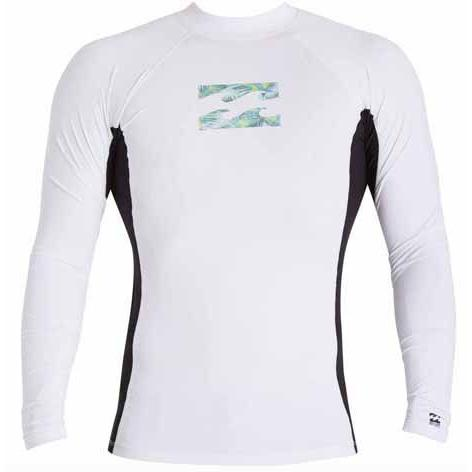BILLABONG Iconic Long Sleeve Rashguard White MWLYEICL