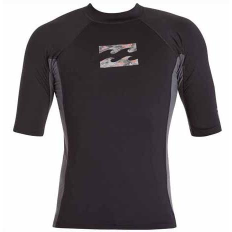 BILLABONG Iconic Short Sleeve Rashguard Black MWLYGICS