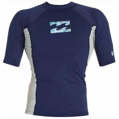 BILLABONG Iconic Short Sleeve Rashguard Navy MWLYGICS