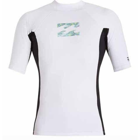 BILLABONG Iconic Short Sleeve Rashguard White MWLYGICS