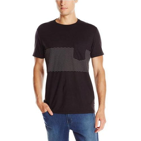 BARNEY COOLS RIPPLE TEE SHIRT #170PE3 BLACK/BLACK