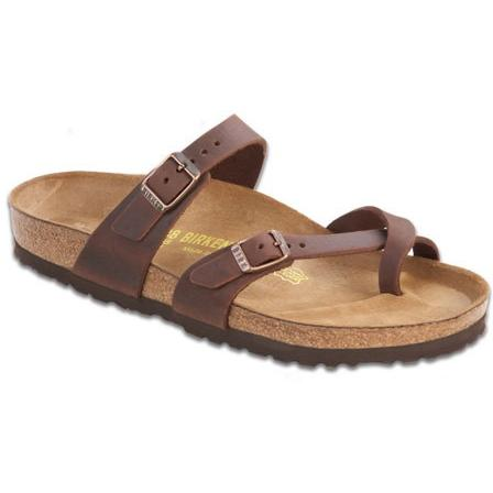 BIRKENSTOCK Women's Mayari Leather Thong Sandal in Habana