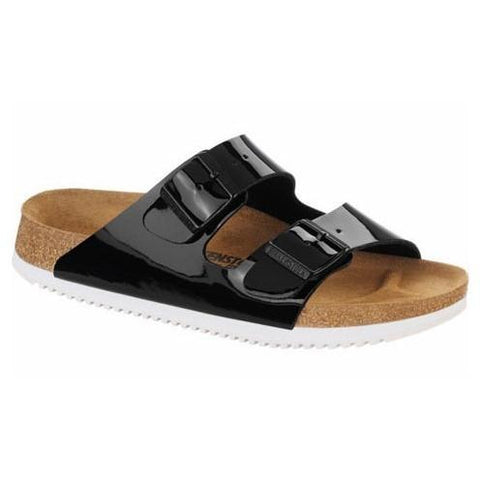 BIRKENSTOCK Women's Arizona Super Grip Black Patent Birko-Flor in Black Patent
