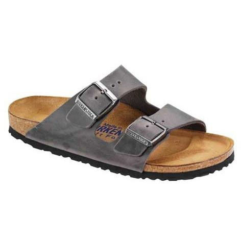 BIRKENSTOCK Mens Arizona SFB Oiled Leather Iron in Iron