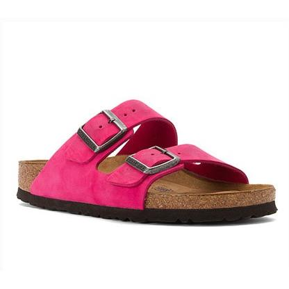 BIRKENSTOCK Women'S Arizona Sfb Soft Footbed PinkNubuck 57783