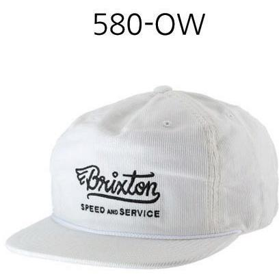 BRIXTON Mach High Profile Snapback Off White 580