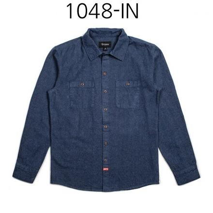 BRIXTON Blake Long Sleeve Woven Shirt Indigo 1048