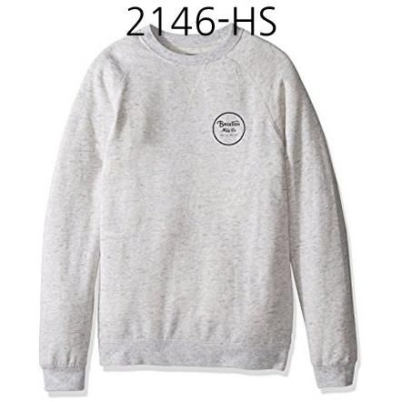 BRIXTON Wheeler Crewneck Fleece Heather Stone 2146