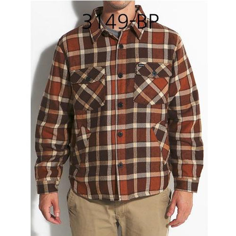 BRIXTON Tucker Jacket Brown Plaid 3149