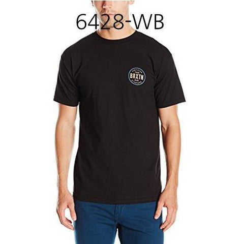 BRIXTON Cowen Short Sleeve Standard Tee Washed Black/Black 6428