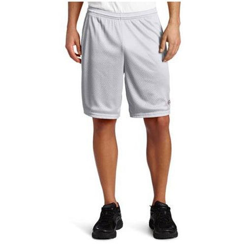 Champion Long Mesh Men'S Shorts With Pockets Athletic Gray 81622