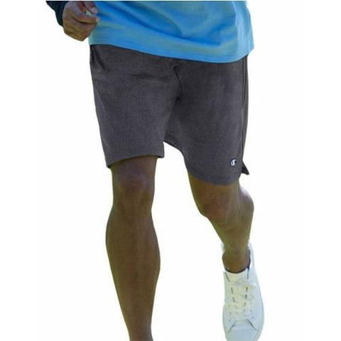 Champion Long Mesh Men'S Shorts With Pockets Granite Heather 81622
