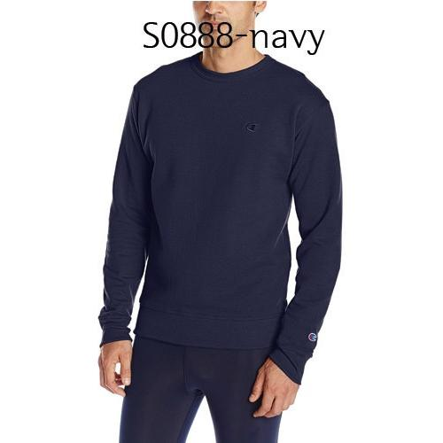 Champion Mens Powerblend Fleece Pullover Crew Navy S0888