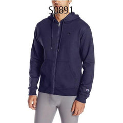 Champion Mens Powerblend Fleece Full Zip Jacket Navy S0891