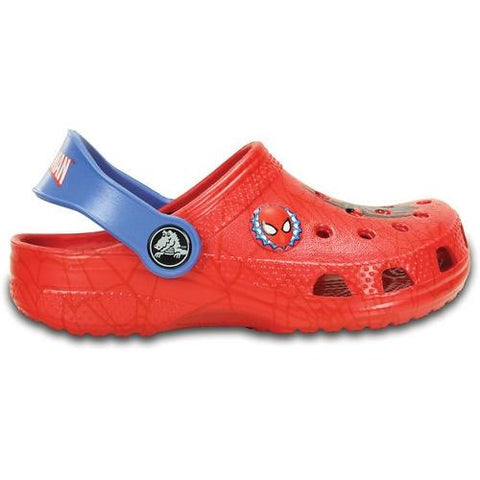 Crocs Kids Classic Spiderman Clog in Red