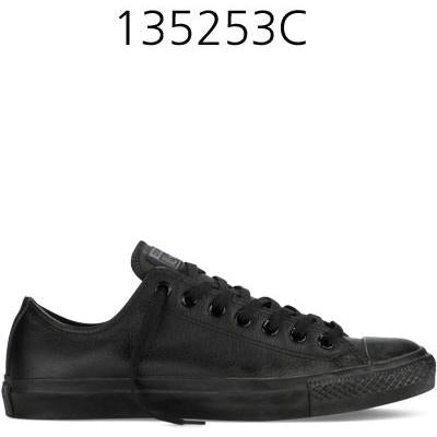 CONVERSE Chuck Taylor All Star Leather Low Top Black Mono 135253C