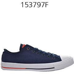 CONVERSE Chuck Taylor All Star Low Top Shoreline Obsidian/White/Signal Red 153797F
