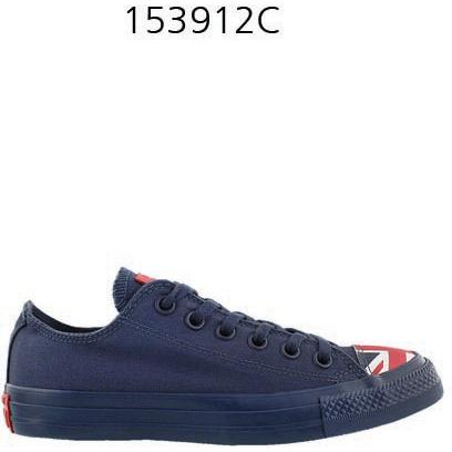 CONVERSE Chuck Taylor All Star Flag Toe Cap Low Top Sneaker Navy/Red/White 153912C