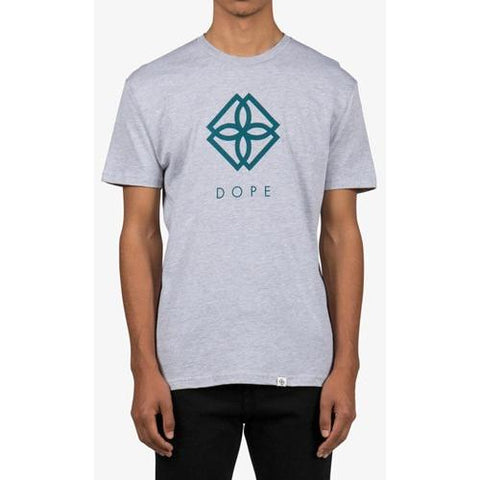 DOPE Monogram Tee Grey Heather D0216-T101