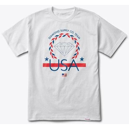 DIAMOND SUPPLY Usa Team Tee White B16DMPA06