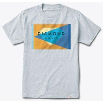 DIAMOND SUPPLY Geometric Tee Heather Grey B16DMPA09
