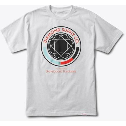 DIAMOND SUPPLY Worlds Best Tee White B16DMPA10