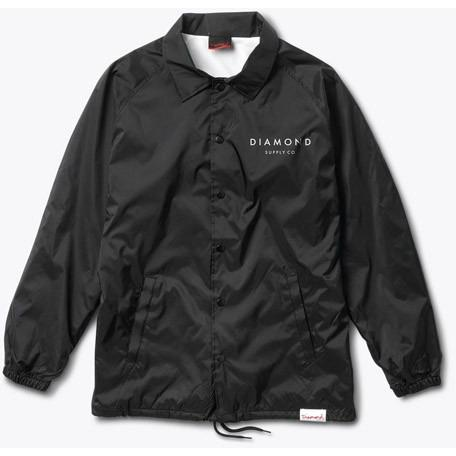 DIAMOND SUPPLY Boxed In Coach'S Jacket Black B16DMPK21