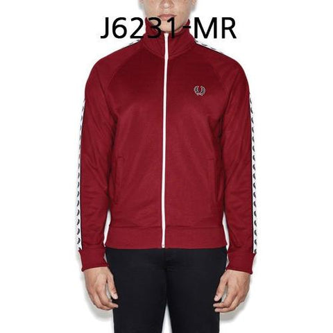 FRED PERRY Sports Authentic Laurel Tape Track Jacket Maroon J6231