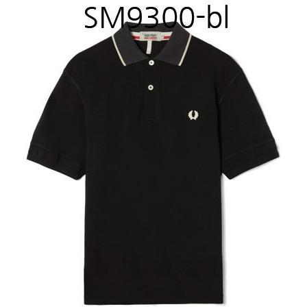 FRED PERRY X Nigel Cabourn Training Collaboraion Pique Shirt Black SM9300