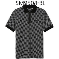 FRED PERRY Raf Simons Square Jacquard Pique Shirt Black SM9504