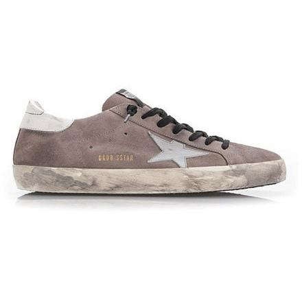 GOLDEN GOOSE Super Star Sneakers Midgreysuede/white G29MS590.A65