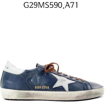 GOLDEN GOOSE Super Star Sneakers blueleather/brown G29MS590.A71