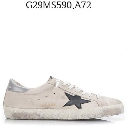 GOLDEN GOOSE Super Star Sneakers Creamnabuk/blacks G29MS590.A72