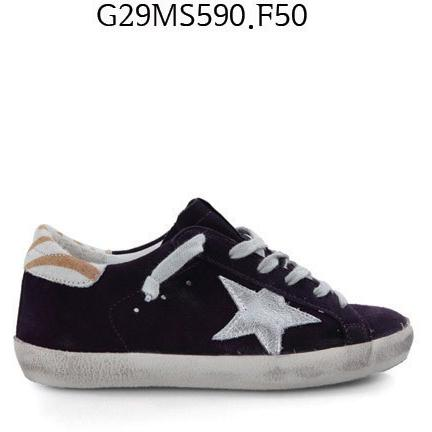 GOLDEN GOOSE Super Star Sneakers In Suede And Laminated Leather Star Grapepurplesuede G29MS590.F50