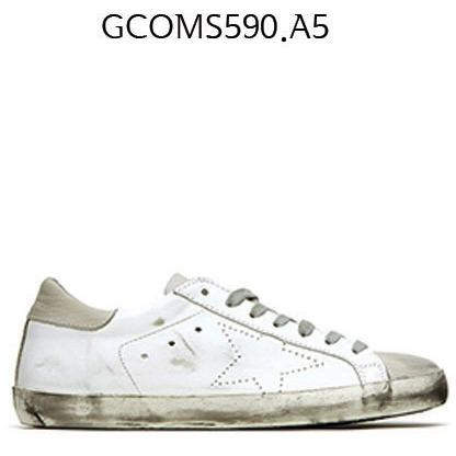 GOLDEN GOOSE Super Star Sneakers In Leather With Openwork Star Whiteskate GCOMS590.A5