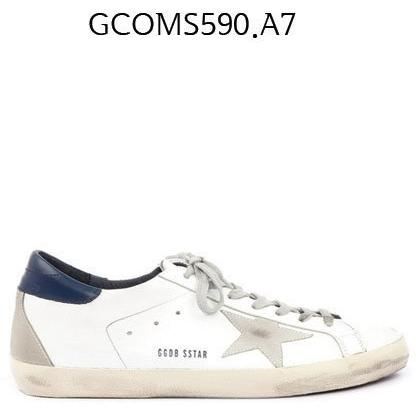 GOLDEN GOOSE Super Star Sneakers In Lleather With Suede Star Whitebluecreamsol GCOMS590.A7