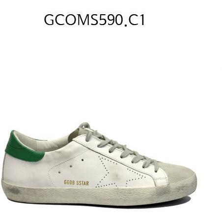 GOLDEN GOOSE Super Star Sneakers In Leather With Suede Star Whitegreenskate GCOMS590.C1