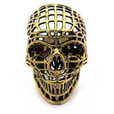 Han Cholo Mesh Skull  Ring From Shadow Series HCR218 Gold